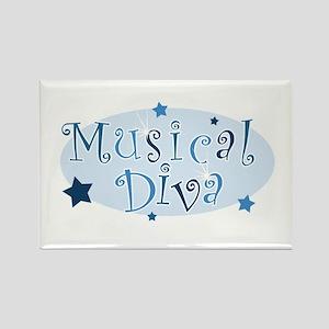 """""""Musical Diva"""" [blue] Rectangle Magnet"""